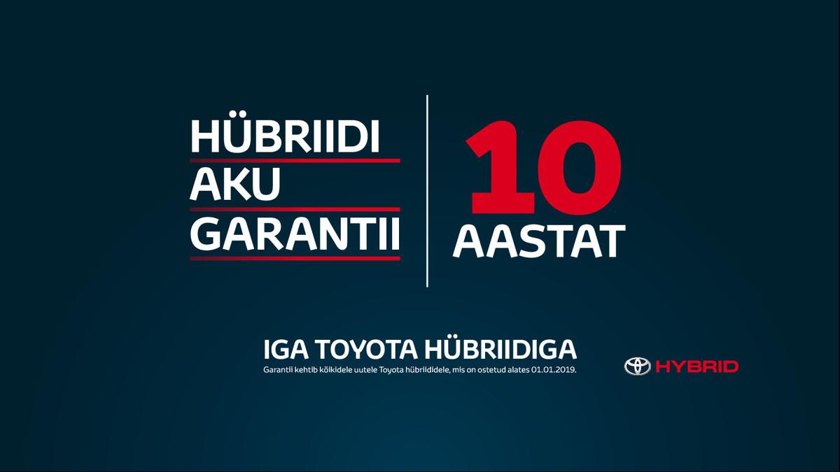 Toyota hübriidaku 10aastane garantii