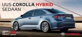 Uue Corolla Hybrid sedaani pakkumine
