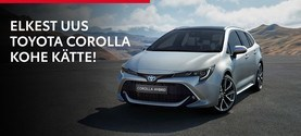Elkes ei pea ootama, sest uue Toyota Corolla anname Sulle kohe kätte!